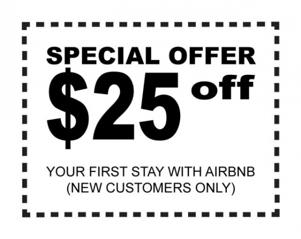 Receive $25 off from your first stay with Airbnb.com
