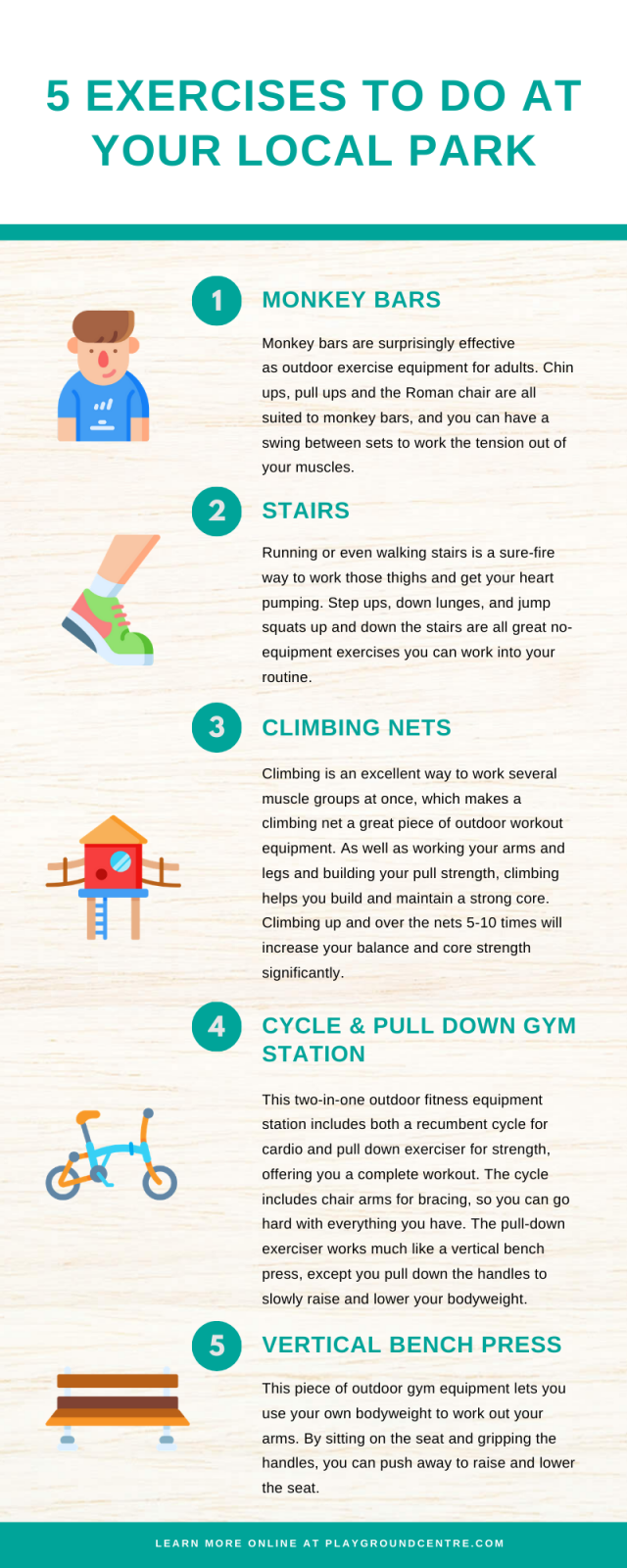 5 Exercises you can do at your local park Playground Centre
