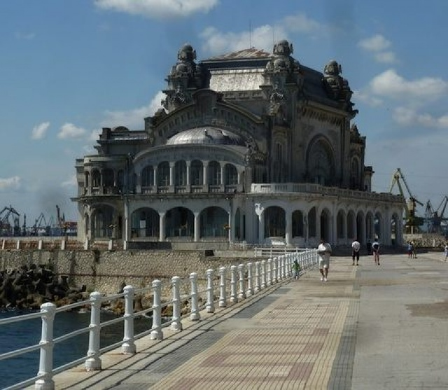 abandoned Casino building in Constanta