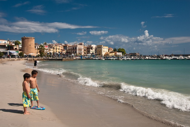Mondello beach Palermo Sicily with Kids